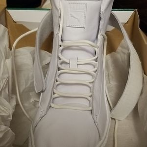 White 8.5 Platform Mid Shoes